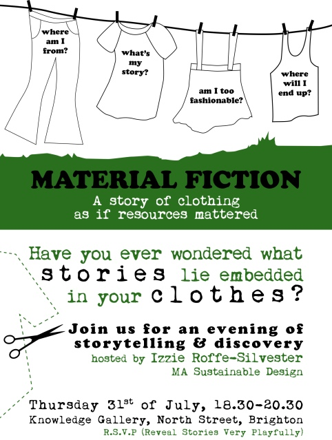 Material Fiction email invite